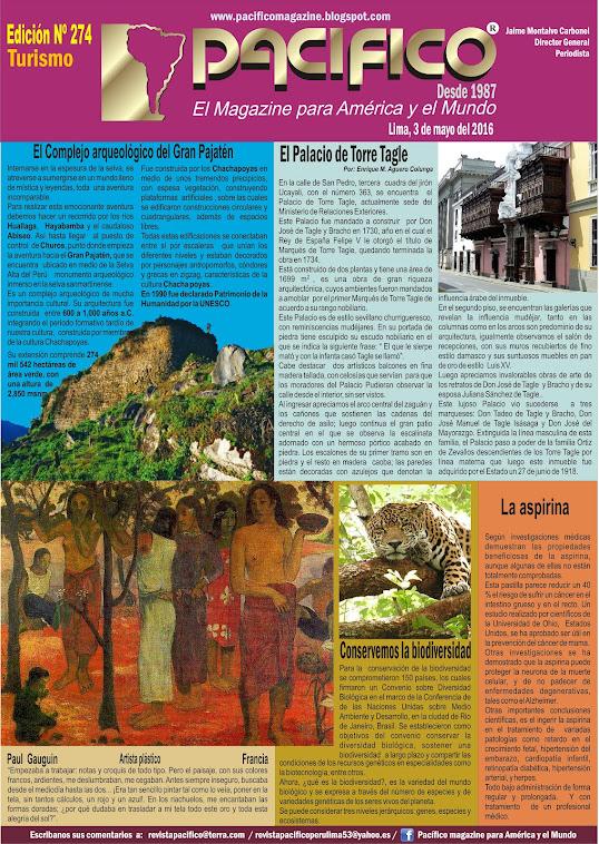 Revista Pacífico Nº 274 Turismo