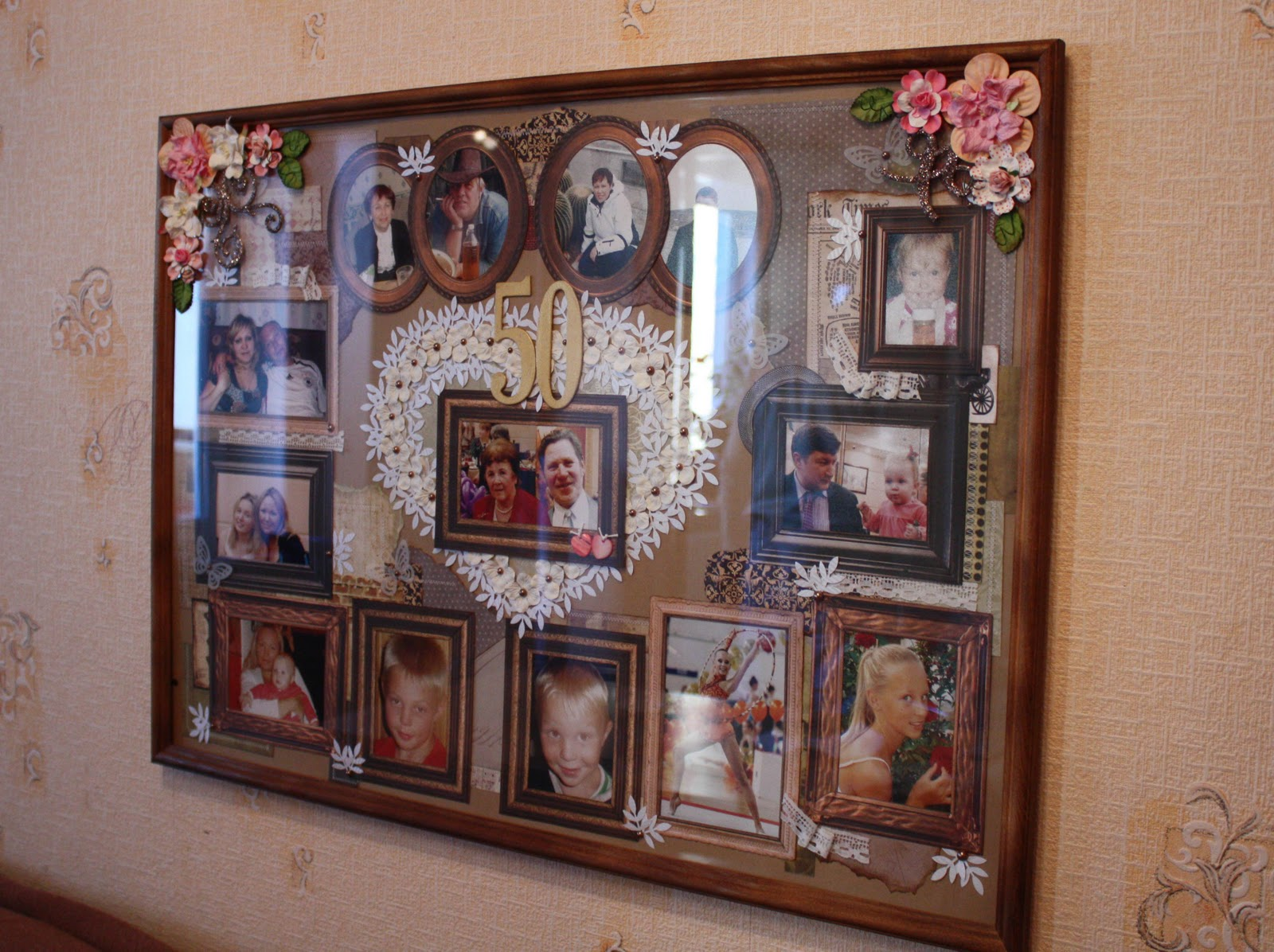 Коллаж для фото золотая свадьба
