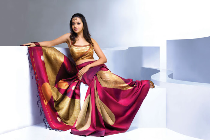 bhavana nwe saree , bhavana photo gallery