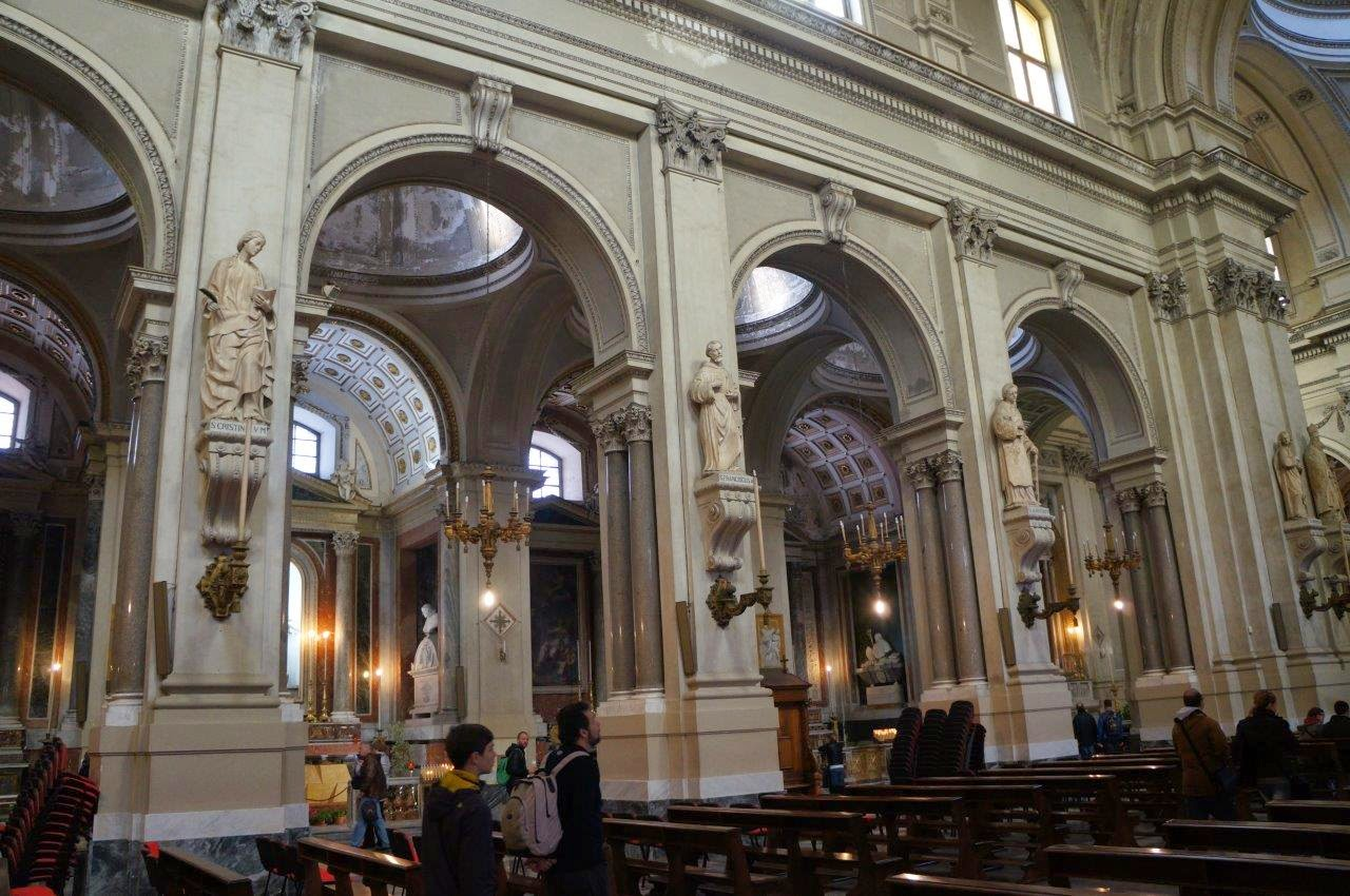 Beautiful cathedral in Palermo Sicily Italy.