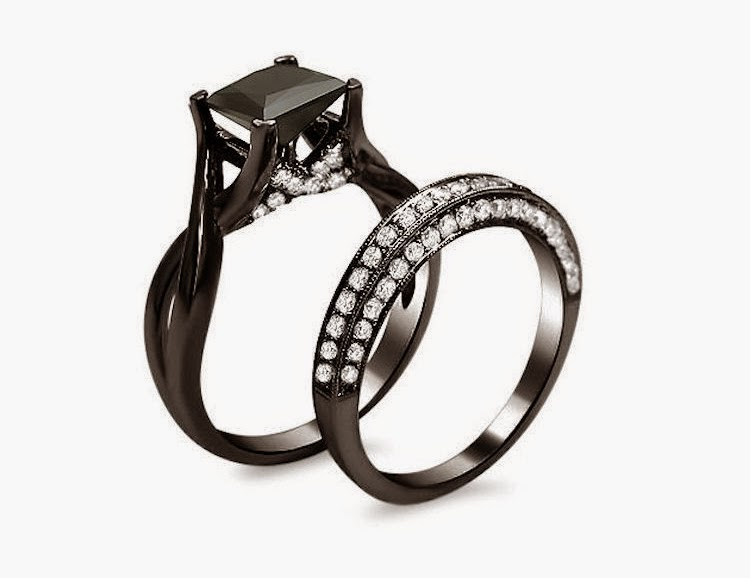 Black diamond engagement ring meaning for Black wedding rings meaning
