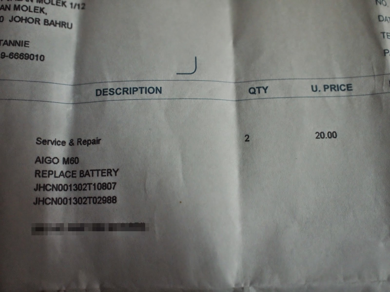 aigoPad M60 - Final Invoice (Battery Replacement)