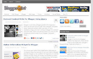 Bloggermint Template