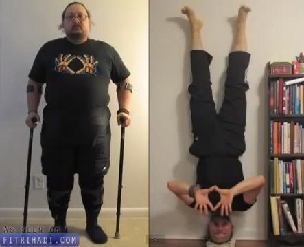 video motivasi lelaki oku akhirnya mampu berjalan