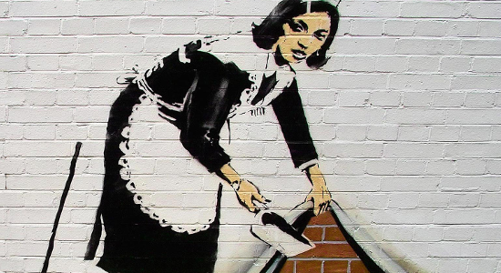 Graffiti ''Pokojówka'' Banksy'ego (Banksy Maid).