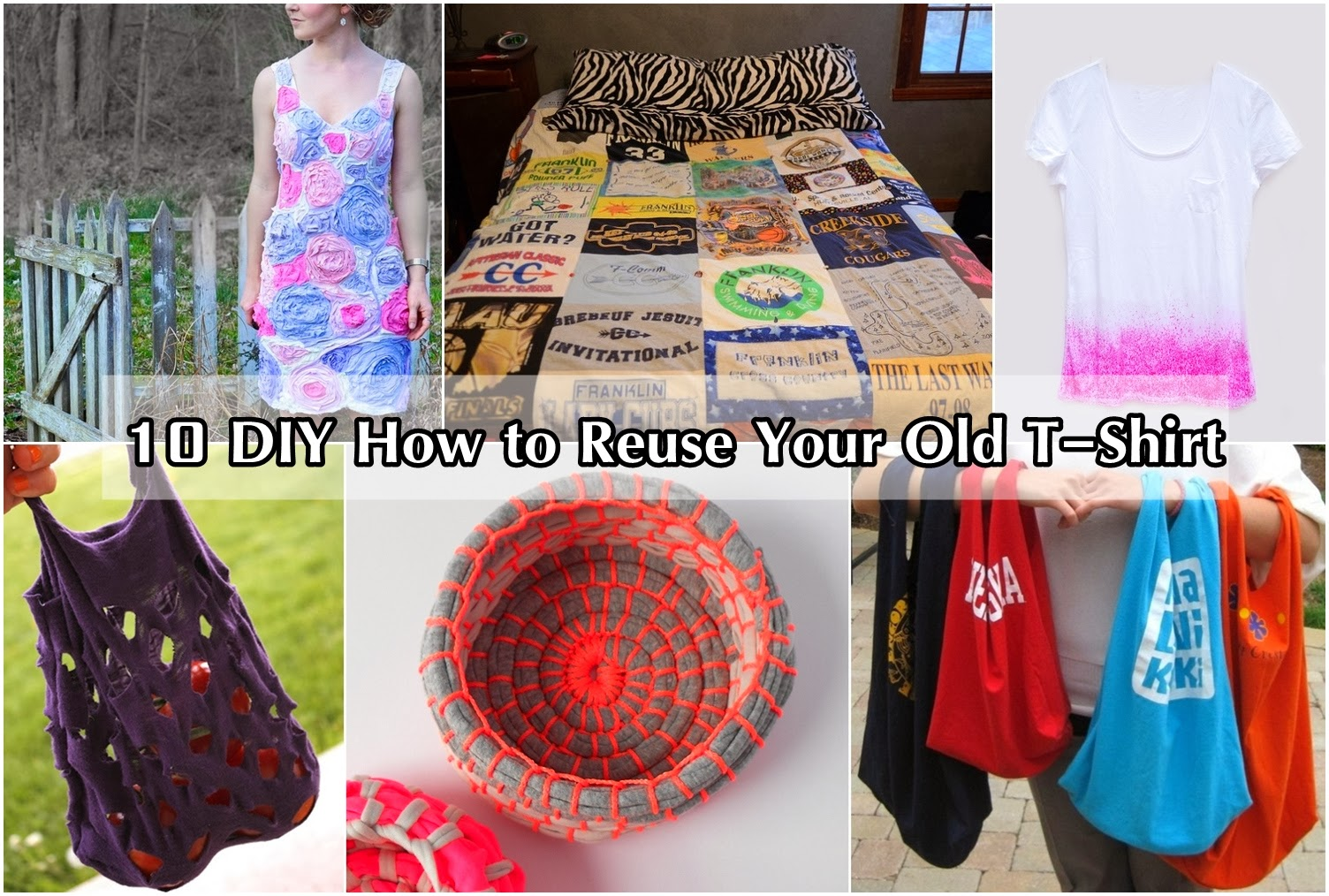 10 diy how to reuse your old t shirt diy craft projects for Craft ideas for old t shirts