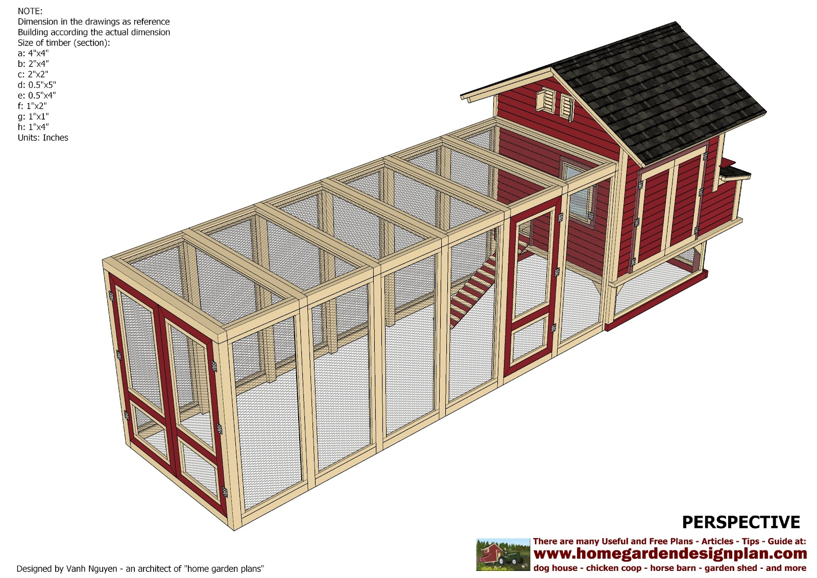 Home garden plans l102 chicken coop plans construction for Plans for a chicken coop for 12 chickens