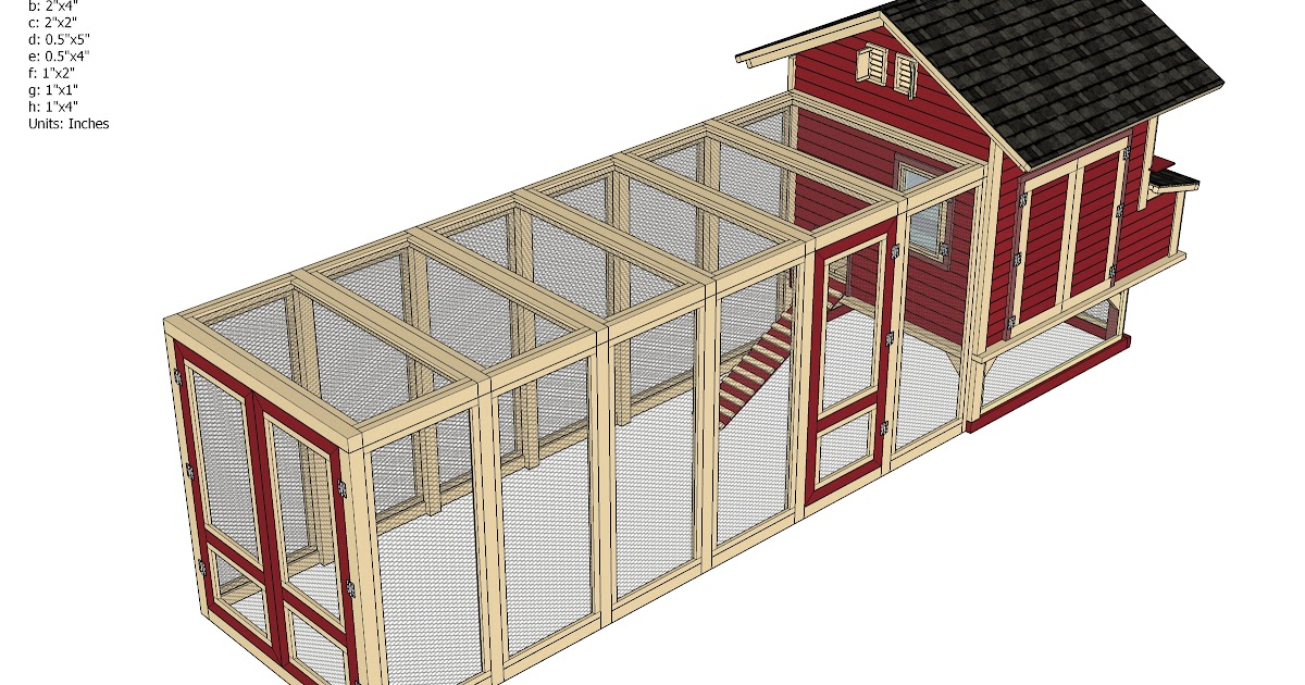 Home garden plans home garden plans l102 large chicken for Chicken coop plans free pdf