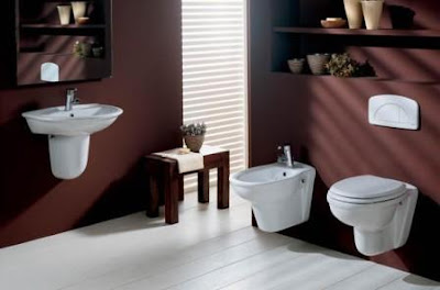 decorar baño con marron
