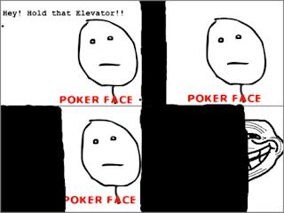 trollface, trollface hold that elevator poker face, trollface elevator, poker face
