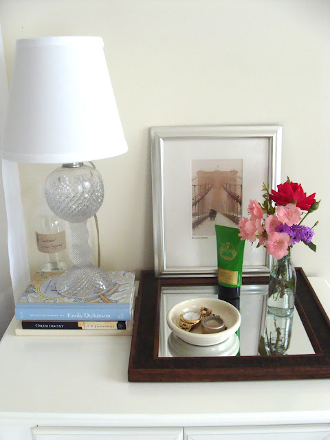 something ivory nightstand decor
