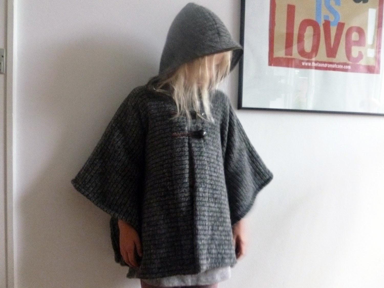 strikket kappe opskrift