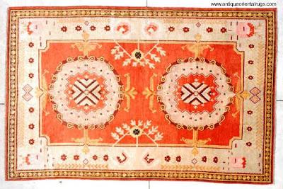 Alfombra del Turkestán siglo XIX