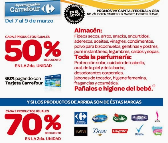ofertas y promos en argentina ofertas carrefour fin de semana. Black Bedroom Furniture Sets. Home Design Ideas