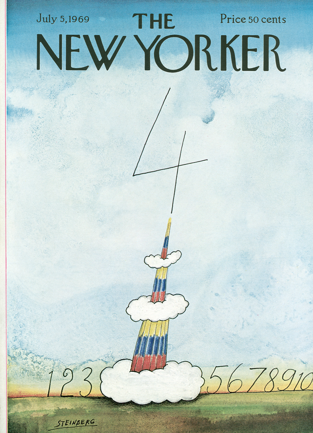 lastly i liked steinbergs illustration on the cover of the july 22nd 1972 issue of the new yorker the cover leaves me thinking why do i find this