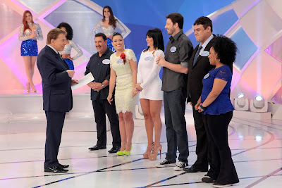Silvio, Ratinho, Milene, Valentina, Danilo, Diguinho e Juliana (Crédito: Lourival Ribeiro/SBT)