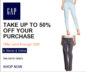 Online Gap Coupon Code