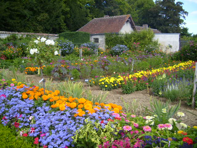 Chateau de Bouges Flower Garden