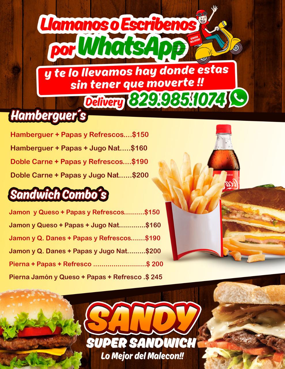 Sandy Super Sándwich, lo mejor del malecon!!