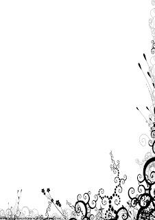 Hojas decoradas en blanco y negro