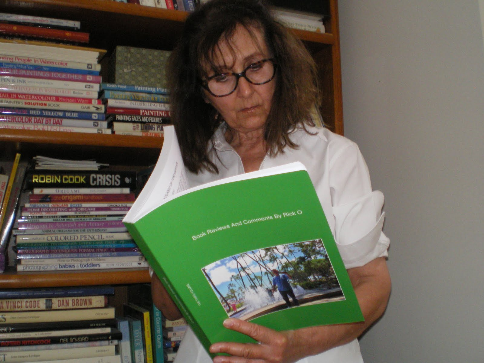 Children's Picture Book Specialist, Pat Koelmel Enjoys Her Copy!