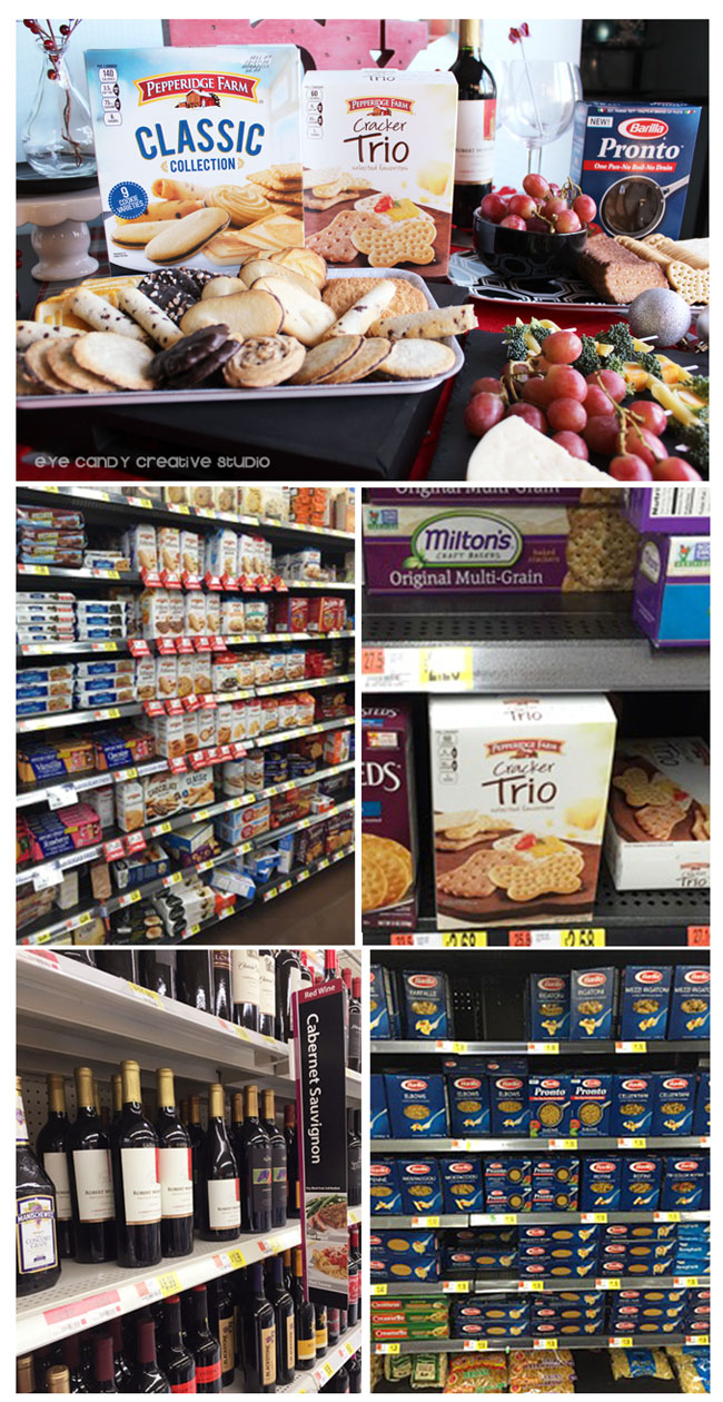 holiday pairings, walmart in store photo, pepperidge farm, barilla