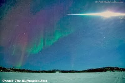 Massive Fireball Explodes Over Yellowknife 3-6-14
