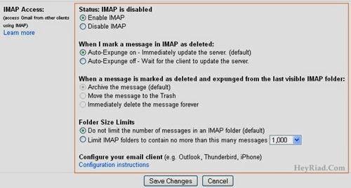 Set IMAP Access