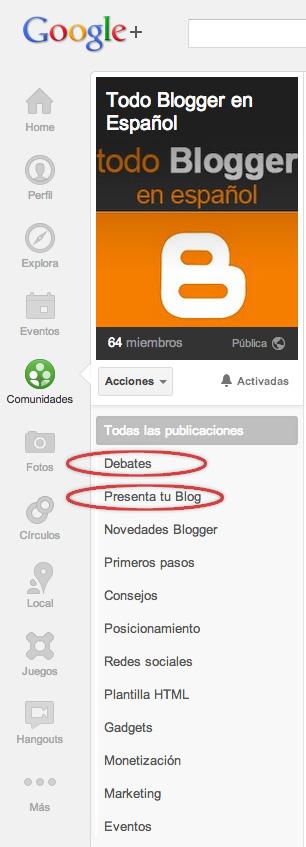 Todo Blogger en español