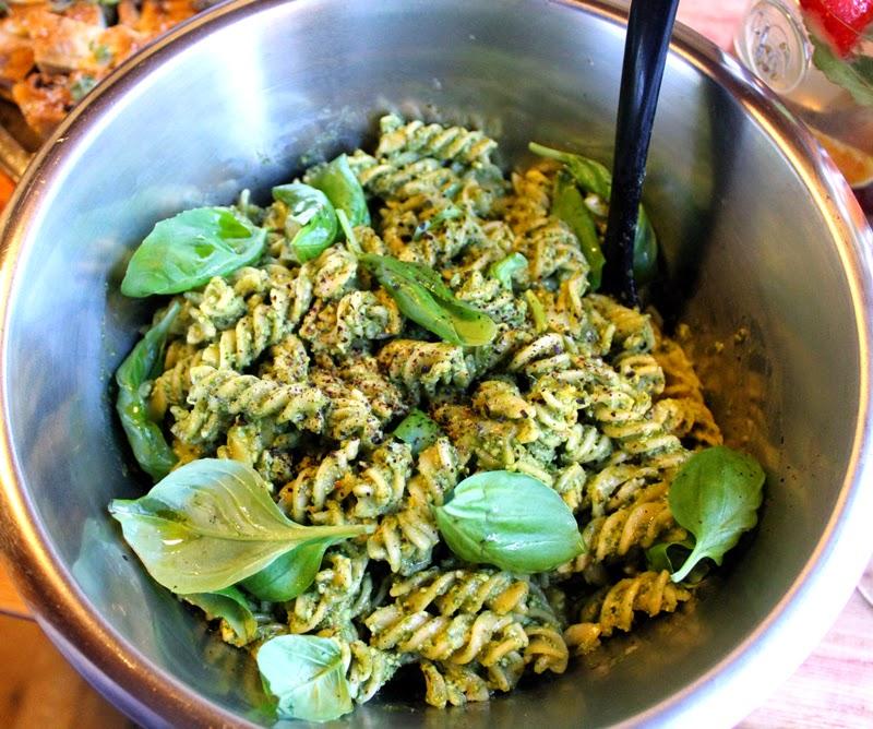 Pasta Pesto Vegansk Tapas Menyforslag Tapasmeny Vegetartapas Hjemmelaget