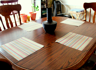 laminated adult placemats table setting DIY craft