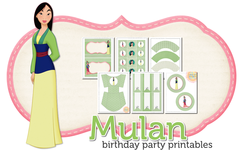 Mulan Free Printable Kit.