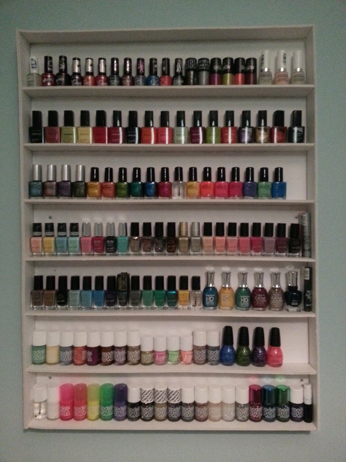 Lanes lacquers my new nail room diy nail polish storage solutioingenieria Image collections