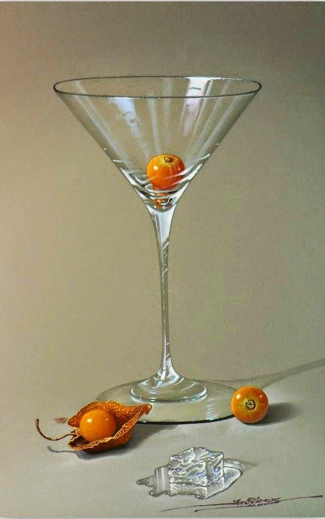 Cuadros pinturas oleos bodegones con frutas y copas for Frutas de cristal