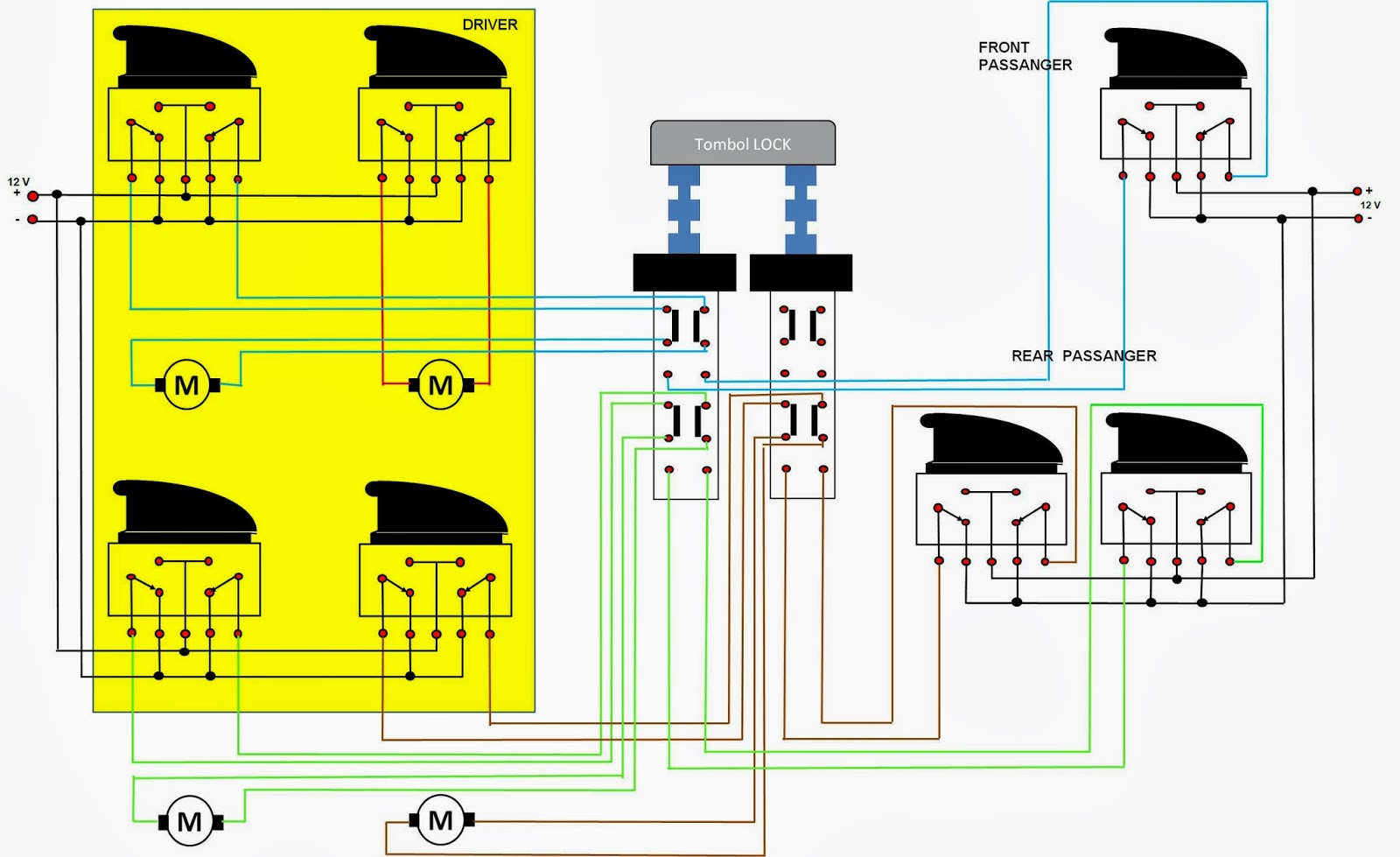 wiring diagram power window 4 pintu circuit connection diagram u2022 rh scooplocal co