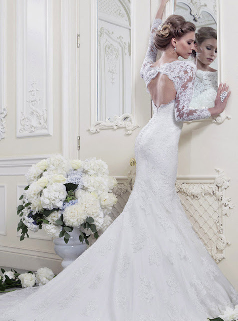 Ellis wedding dresses 2013 lace backless