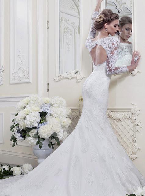 Ellis wedding dresses 2013 lace backless