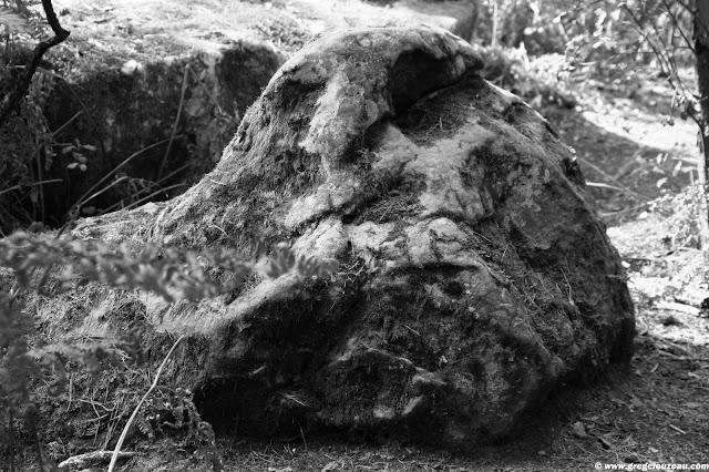 Jabba le hutt, grès, Bois Rond, Trois Pignons, (c) 2014 Greg Clouzeau