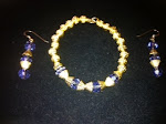 Lady G Gold Earring/Bracelet Set