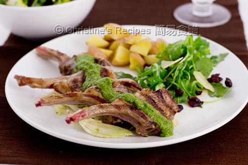 煎羊扒配羅勒青醬汁 Lamb Cutlets with Pesto Sauce02