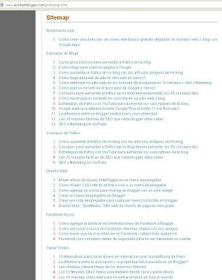 Como crear un sitemap automático o una tabla de contenidos para mi blog de blogger