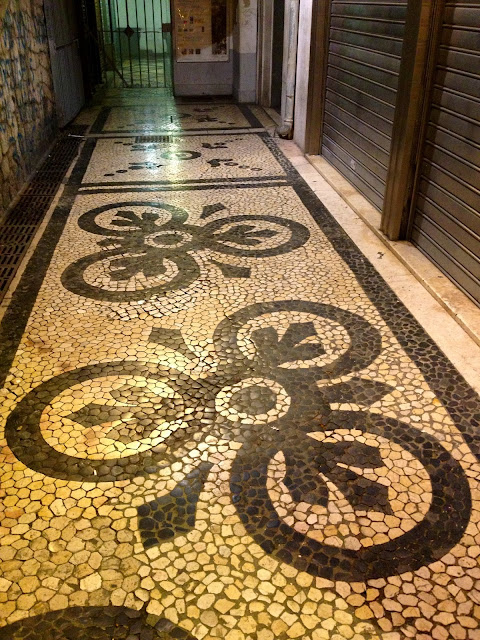 Cobblestone patterns in Lisbon on Semi-Charmed Kind of Life
