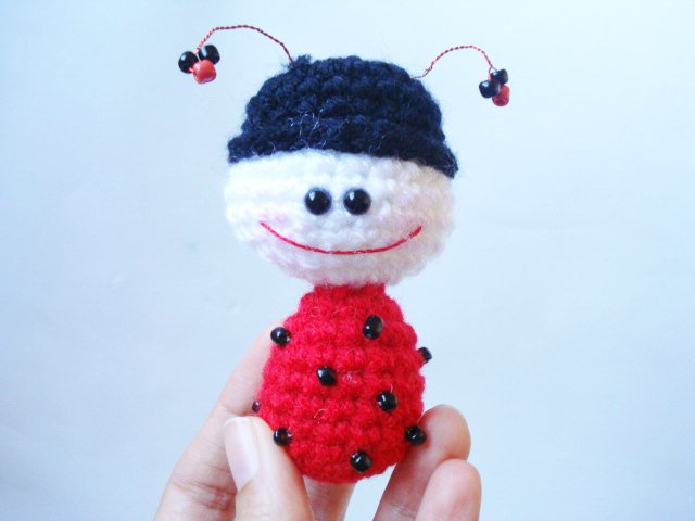 Ladybug Amigurumi Crochet Pattern Free : AllSoCute Amigurumis: Crocheted Ladybug, Crochet Pattern ...