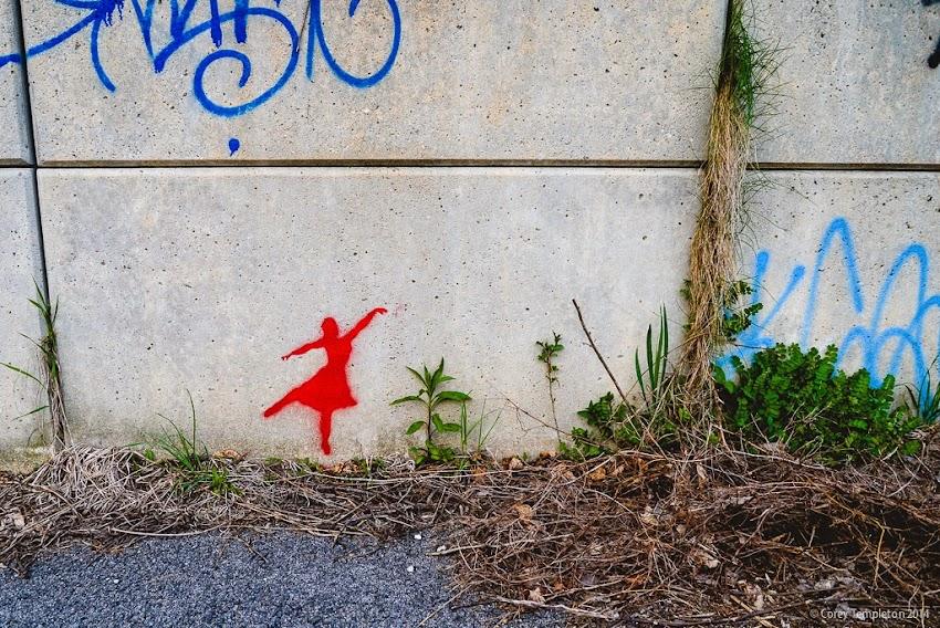Portland, Maine 2014 photo by Corey Templeton tiny ballerina dancer graffiti