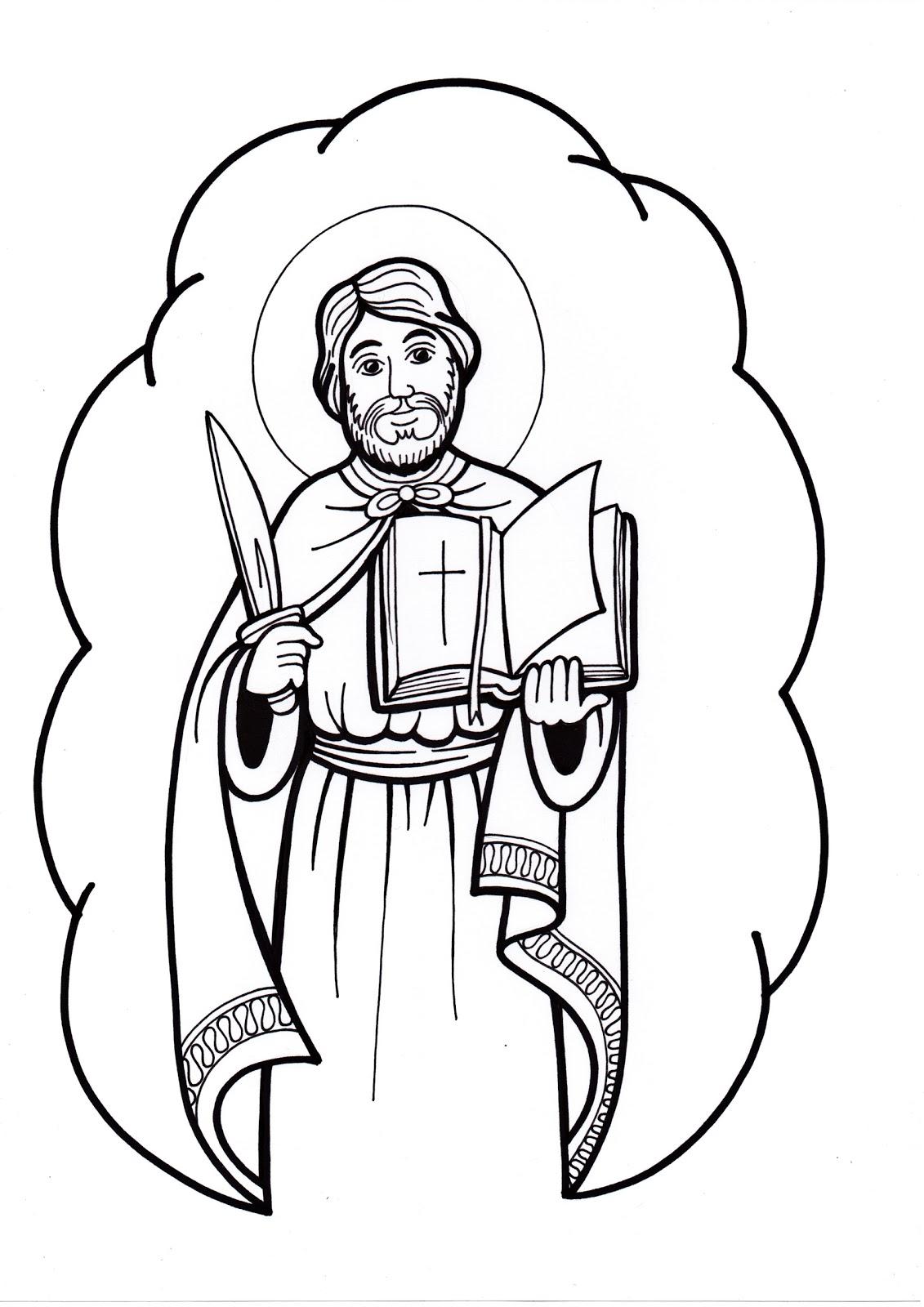 El Rincón de las Melli: Para colorear: San Bartolomé Apóstol