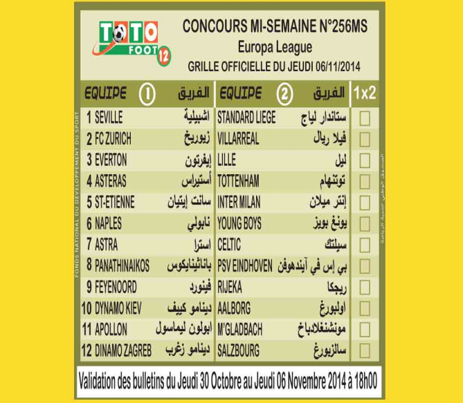 COUNCOURS MI-SEMAINE N 256 MS