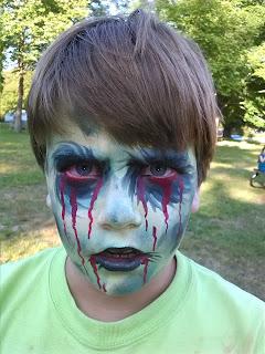 Halloween Zombie Skull Face Painter Florida Saint Petersburg Tampa