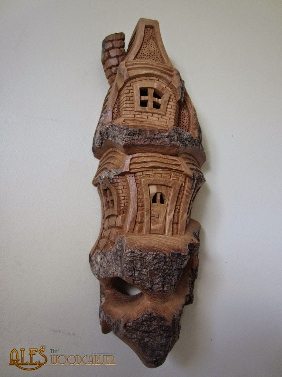Ales the woodcarver cottonwood bark houses