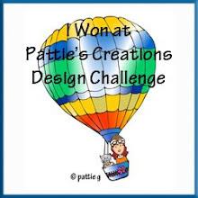 Met onderstaande babykaart won ik bij Pattie's Creations Challenge #40.