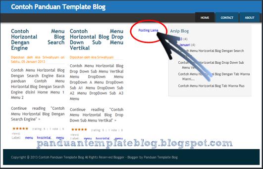 Cara Membuat Dua Kolom Posting Homepage Blogspot